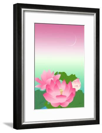 Lotus at Night-Ikuko Kowada-Framed Giclee Print