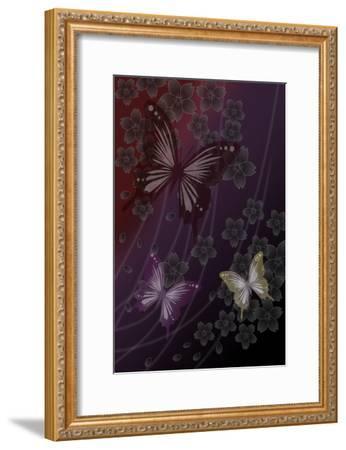 Cherry Blossoms Red-Ikuko Kowada-Framed Giclee Print