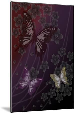Cherry Blossoms Red-Ikuko Kowada-Mounted Giclee Print