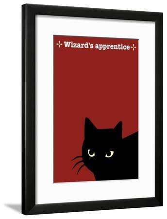 Black Cat in Red-Ikuko Kowada-Framed Giclee Print