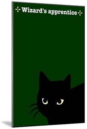 Black Cat in Green-Ikuko Kowada-Mounted Giclee Print