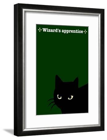 Black Cat in Green-Ikuko Kowada-Framed Giclee Print