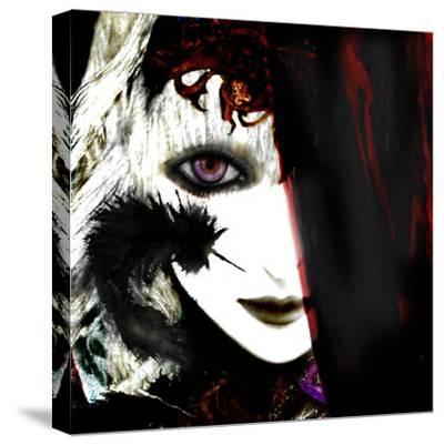 Gate Keeper: Black &Purple-Meiya Y-Stretched Canvas Print