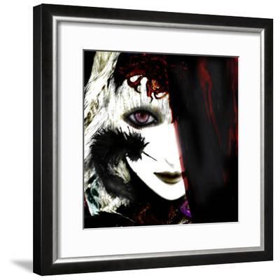 Gate Keeper: Black &Purple-Meiya Y-Framed Giclee Print