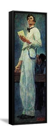 Lincoln for the Defense-Norman Rockwell-Framed Stretched Canvas Print