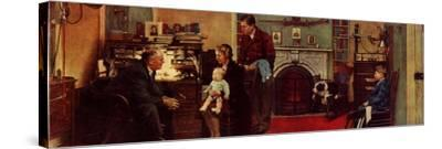Norman Rockwell Visits a Family Doctor-Norman Rockwell-Framed Stretched Canvas Print