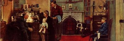 Norman Rockwell Visits a Family Doctor-Norman Rockwell-Stretched Canvas Print