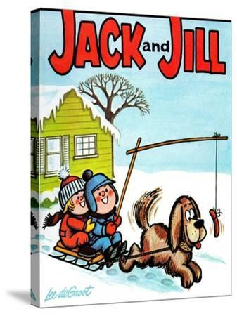 Hot Dog! - Jack and Jill, January 1965-Lee de Groot-Stretched Canvas Print