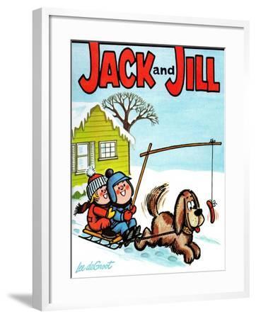 Hot Dog! - Jack and Jill, January 1965-Lee de Groot-Framed Giclee Print