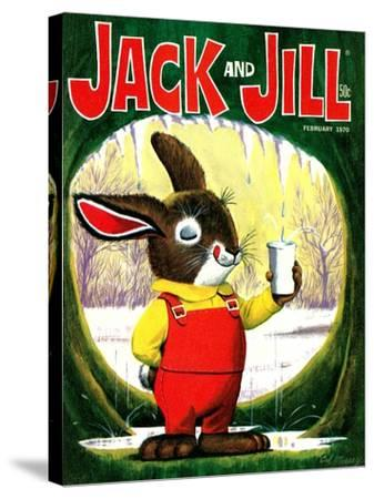 Splashing Into Spring - Jack and Jill, February 1970-Cal Massey-Stretched Canvas Print
