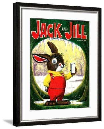 Splashing Into Spring - Jack and Jill, February 1970-Cal Massey-Framed Giclee Print