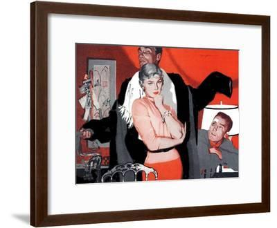 """The Magnificent Phoney  - Saturday Evening Post """"Leading Ladies"""", June 4, 1955 pg.p43-Robert Meyers-Framed Giclee Print"""