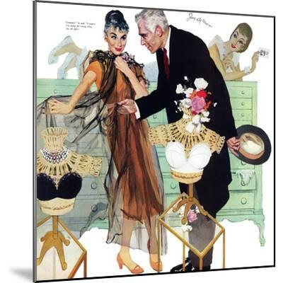 """Love Came Late  - Saturday Evening Post """"Leading Ladies"""", August 4, 1956 pg.28-Joe de Mers-Mounted Giclee Print"""