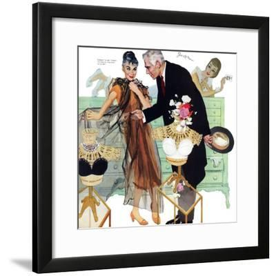 "Love Came Late  - Saturday Evening Post ""Leading Ladies"", August 4, 1956 pg.28-Joe de Mers-Framed Giclee Print"