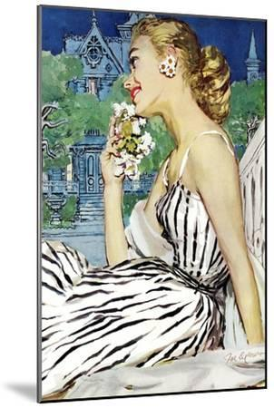 """Walk to the Dance - Saturday Evening Post """"Leading Ladies"""", October 5, 1957 pg.37-Joe deMers-Mounted Giclee Print"""
