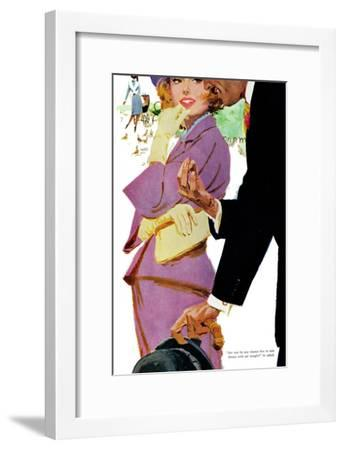"""Young and Pampered - Saturday Evening Post """"Leading Ladies"""", January 3, 1959 pg.31-Lynn Buckham-Framed Giclee Print"""