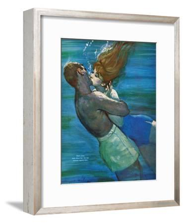 """Love Isn't Logical - Saturday Evening Post """"Leading Ladies"""", December 5, 1959 pg.23-Coby Whitmore-Framed Premium Giclee Print"""
