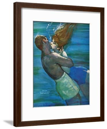 """Love Isn't Logical - Saturday Evening Post """"Leading Ladies"""", December 5, 1959 pg.23-Coby Whitmore-Framed Giclee Print"""