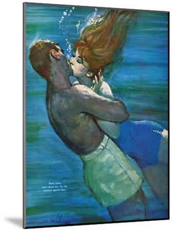 """Love Isn't Logical - Saturday Evening Post """"Leading Ladies"""", December 5, 1959 pg.23-Coby Whitmore-Mounted Giclee Print"""