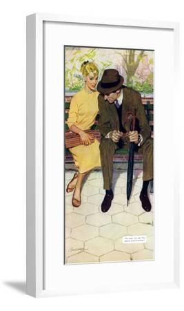 "Women Are Like That - Saturday Evening Post ""Men at the Top"", January 12, 1957 pg.31-Lynn Buckham-Framed Giclee Print"