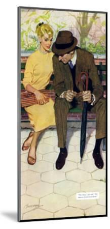 """Women Are Like That - Saturday Evening Post """"Men at the Top"""", January 12, 1957 pg.31-Lynn Buckham-Mounted Giclee Print"""