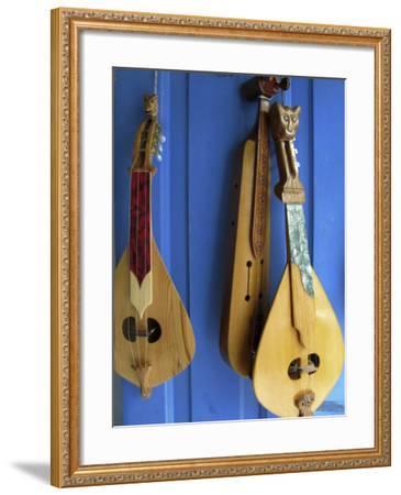 Handmade Musical Instruments, Chania, Crete, Greece-Steve Outram-Framed Photographic Print