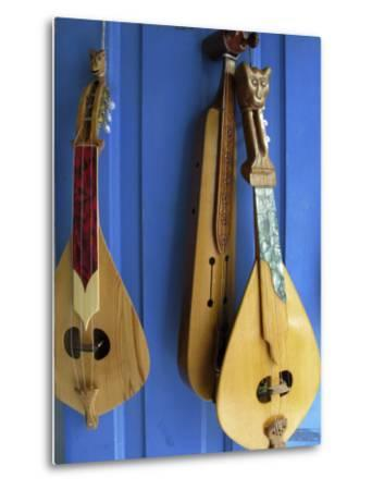 Handmade Musical Instruments, Chania, Crete, Greece-Steve Outram-Metal Print