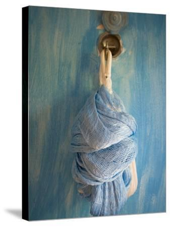Playa Del Carmen, Mexico; a Hammock Hanging on a Wall in a Hotel-Dan Bannister-Stretched Canvas Print