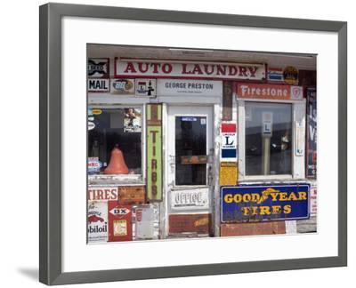 Idaho, Usa; Signs on an Old Gas Station in the American Midwest-Dan Bannister-Framed Photographic Print