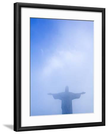 Brazil, Rio De Janeiro, Cosme Velho, Christ the Redeemer Statue at Atop Cocovado-Jane Sweeney-Framed Photographic Print