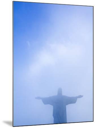 Brazil, Rio De Janeiro, Cosme Velho, Christ the Redeemer Statue at Atop Cocovado-Jane Sweeney-Mounted Photographic Print