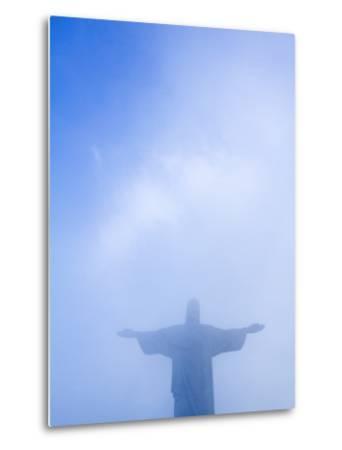 Brazil, Rio De Janeiro, Cosme Velho, Christ the Redeemer Statue at Atop Cocovado-Jane Sweeney-Metal Print