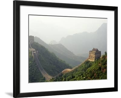 China, Tianjin, Taipinzhai; a Section of China's Great Wall from Taipinzhai to Huangyaguan-Amar Grover-Framed Photographic Print