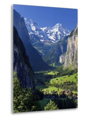 Switzerland, Bernese Oberland, Lauterbrunnen Town and Valley-Michele Falzone-Metal Print