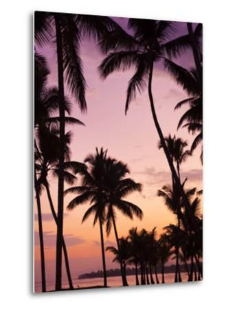 Dominican Republic, Samana Peninsula, Las Terrenas, Playa Las Terrenas Beach-Walter Bibikow-Metal Print