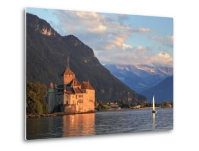 Switzerland, Vaud, Montreaux, Chateau De Chillon and Lake Geneva (Lac Leman)-Michele Falzone-Metal Print