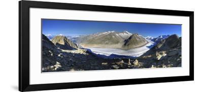 Switzerland, Valais, Jungfrau Region, Aletsch Glacier from Mt; Eggishorn (Unesco Site)-Michele Falzone-Framed Photographic Print