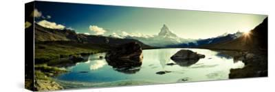 Switzerland, Valais, Zermatt, Lake Stelli and Matterhorn (Cervin) Peak-Michele Falzone-Stretched Canvas Print