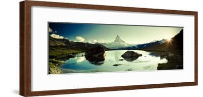 Switzerland, Valais, Zermatt, Lake Stelli and Matterhorn (Cervin) Peak-Michele Falzone-Framed Photographic Print