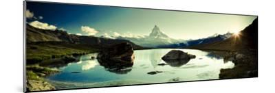 Switzerland, Valais, Zermatt, Lake Stelli and Matterhorn (Cervin) Peak-Michele Falzone-Mounted Photographic Print