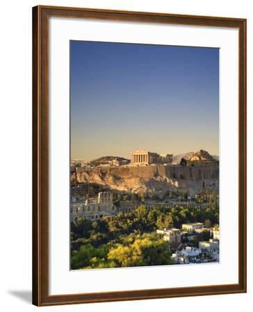 Greece, Attica, Athens, the Acropolis and Parthenon-Michele Falzone-Framed Photographic Print
