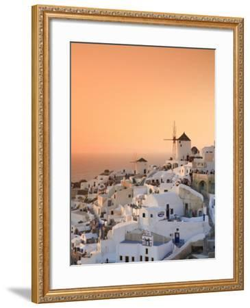Greece, Cyclades, Santorini, Oia Town and Santorini Caldera-Michele Falzone-Framed Photographic Print