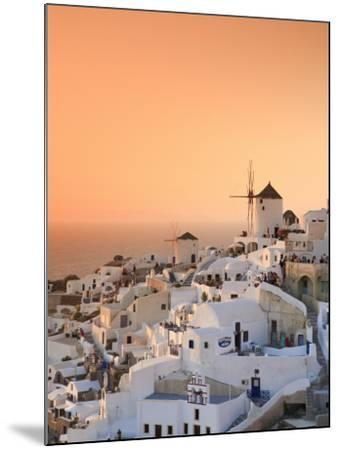 Greece, Cyclades, Santorini, Oia Town and Santorini Caldera-Michele Falzone-Mounted Photographic Print