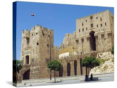Syria, Aleppo; Entrance to the Citadel-Nick Laing-Stretched Canvas Print