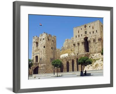 Syria, Aleppo; Entrance to the Citadel-Nick Laing-Framed Photographic Print