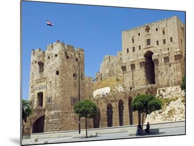 Syria, Aleppo; Entrance to the Citadel-Nick Laing-Mounted Photographic Print