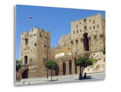 Syria, Aleppo; Entrance to the Citadel-Nick Laing-Metal Print
