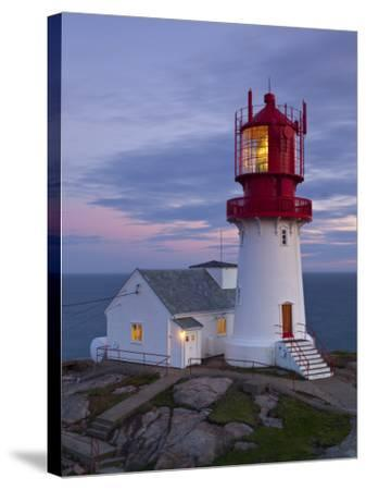 The Idyllic Lindesnes Fyr Lighthouse, Lindesnes, Norway-Doug Pearson-Stretched Canvas Print