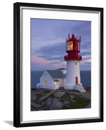 The Idyllic Lindesnes Fyr Lighthouse, Lindesnes, Norway-Doug Pearson-Framed Photographic Print