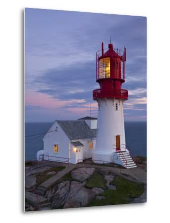 The Idyllic Lindesnes Fyr Lighthouse, Lindesnes, Norway-Doug Pearson-Metal Print